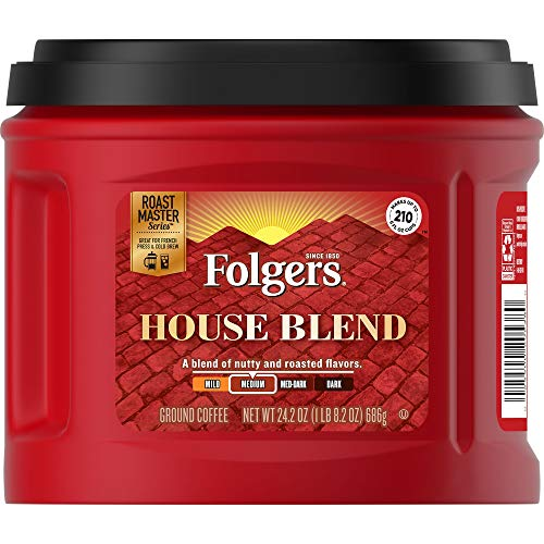 0025500205380 - FOLGERS HOUSE BLEND GROUND COFFEE 24.2 CANISTER