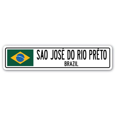0026312659675 - SAO JOSE DO RIO PRETO, BRAZIL STREET SIGN BRAZILIAN FLAG CITY COUNTRY ROAD GIFT