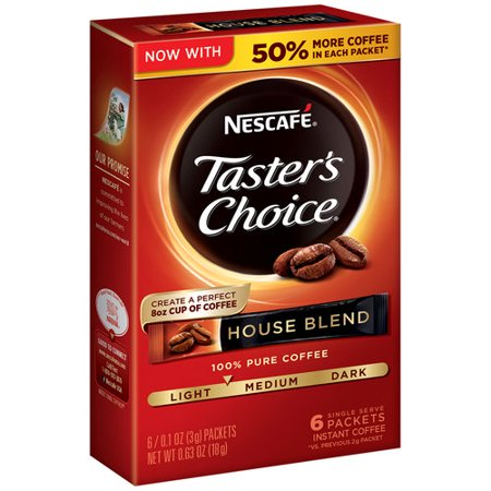 0028000326319 - NESCAFE TASTERS CHOICE HOUSE BLEND INSTANT COFFEE PACKETS LOT 5 - 30 SINGLES