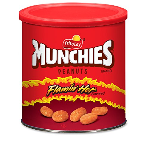 0028400116053 - MUNCHIES FLAMIN' HOT FLAVORED PEANUTS, 16 OUNCE (4 CANISTERS)
