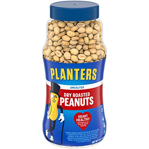 0029000022928 - PLANTERS UNSALTED DRY ROASTED PEANUTS, 16 OUNCE (4 PACK)