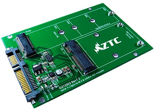 3045151093669 - ZTC 2-IN-1 THUNDER BOARD M.2 (NGFF) OR MSATA SSD TO SATA III BOARD ADAPTER. MULTI SIZE FIT WITH HIGH SPEED 6.0GB/S. MODEL ZTC-AD002