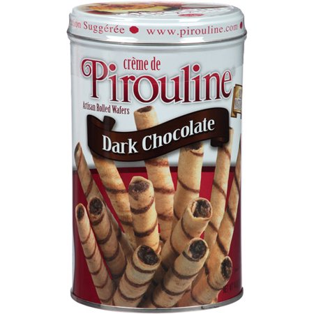 0030684307119 - CREME DE PIROULINE DARK CHOCOLATE ARTISAN ROLLED WAFERS, 14 OZ, (PACK OF 6)