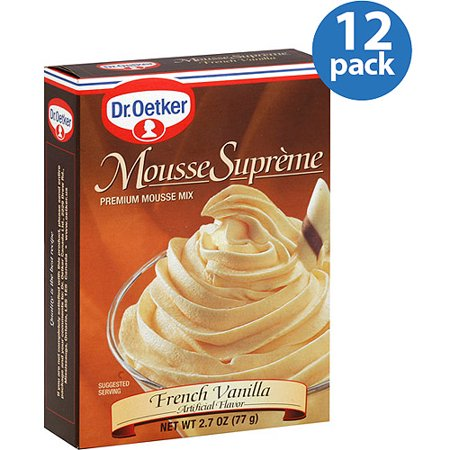 0030684981876 - DR. OETKER FRENCH VANILLA MOUSSE MIX, 2.7 OZ, (PACK OF 12)