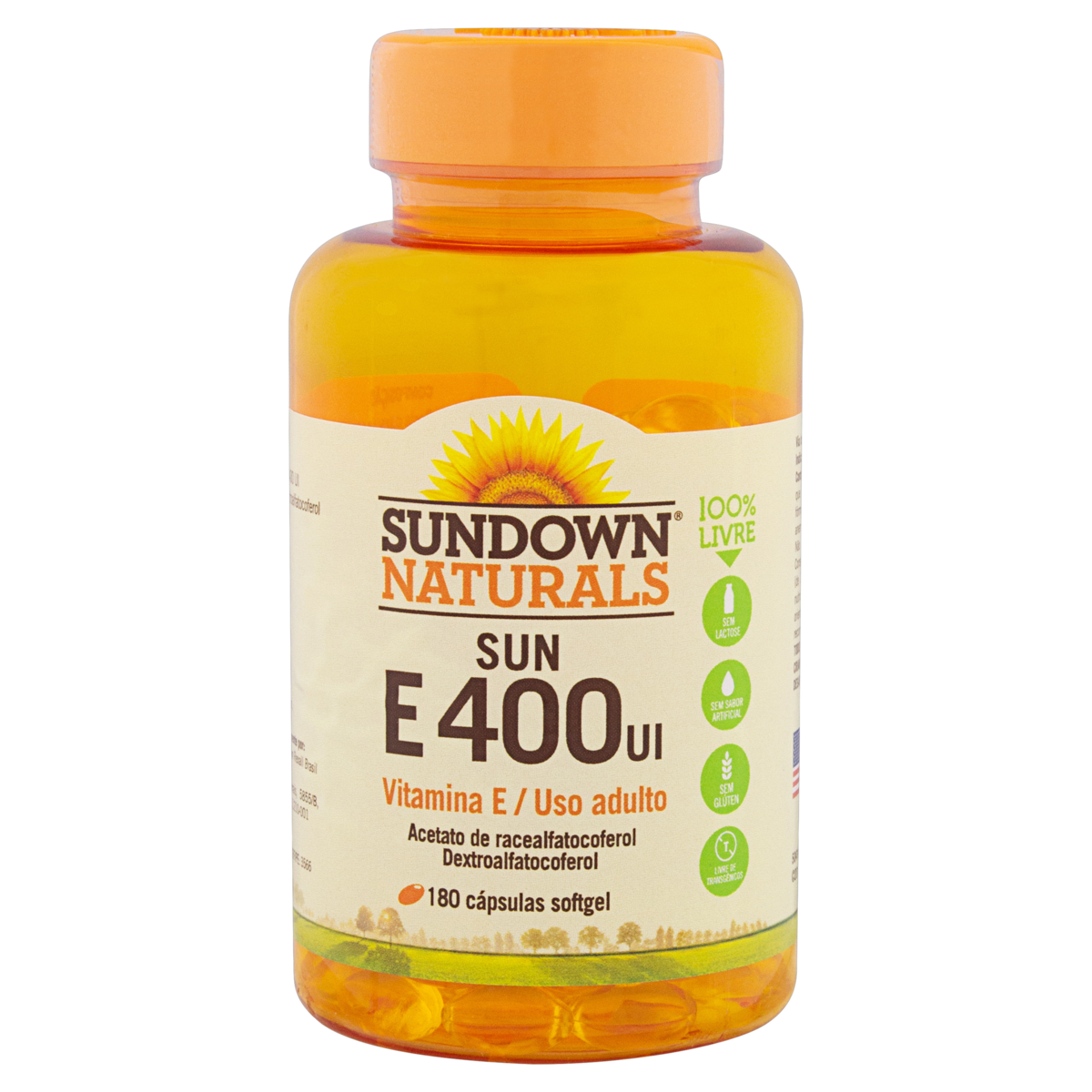 0030768504144 - VITAMINA E SUN E 400UI 180 CÁPSULAS SUNDOWN