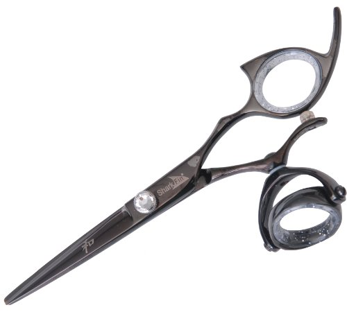 0030955007915 - SHARKFIN PROFESSIONAL LINE TITANIUM RIGHT HAND SUPER SWIVEL BLACK 5.5 CUTTING SHEAR+HOLIDAY ITAY BEAUTY MINERAL NATURE BEAUTY 8STACK OF EYE SHIMMERS
