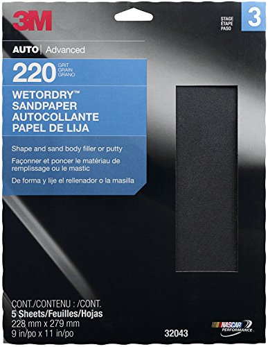 """0031113190227 - 3M 32043 IMPERIAL WETORDRY 9"""" X 11"""" P220A GRIT SHEET"""