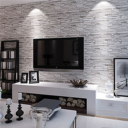 3453336663260   MODERN STYLE 3D WALLPAPER STONE BRICK DESIGN BACKGROUND  WALL PVC WALLPAPER WATERPROOF PAPEL DE