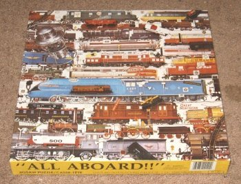 "0034732021200 - ""ALL ABOARD!"" / CHALLENGER 600+ PIECE TRAIN-THEMED JIGSAW PUZZLE"