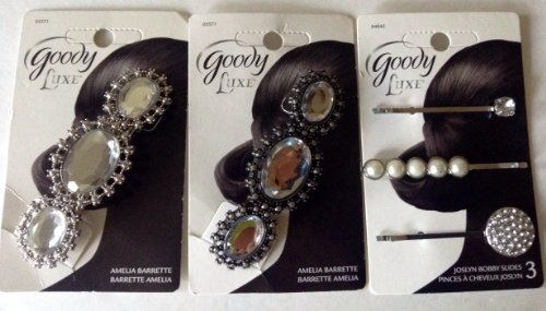 0035203311585 - GOODY LUXE ELEGANT HAIR BARRETTES AND BOBBY SLIDES BUNDLE