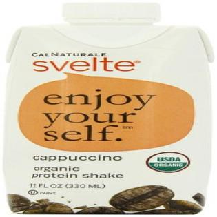 0035844146805 - CALNATURALE SVELTE ORGANIC PROTEIN SHAKE, CAPPUCCINO, 11 OUNCE ASEPTIC BOXES (PACK OF 12)