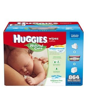 0036000406542 - HUGGIES NATURAL CARE BABY WIPES, REFILL, 504 COUNT