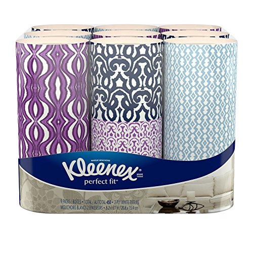 0036000432770 - KLEENEX PERFECT FIT FACIAL TISSUE, 50 COUNT (PACK OF 9)