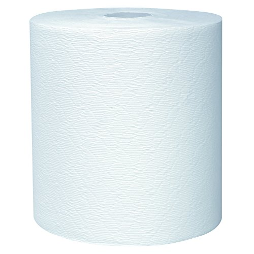 0360005000000 - KLEENEX 50606 HARD ROLL TOWELS, 8 X 600FT, 1 3/4 CORE DIA, WHITE, 6 ROLLS/CARTON