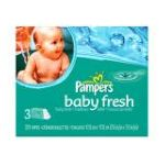 0037000060840 - GAMBLE PAMPERS BABY FRESH BABY WIPES VALUE BOX 231 WIPES