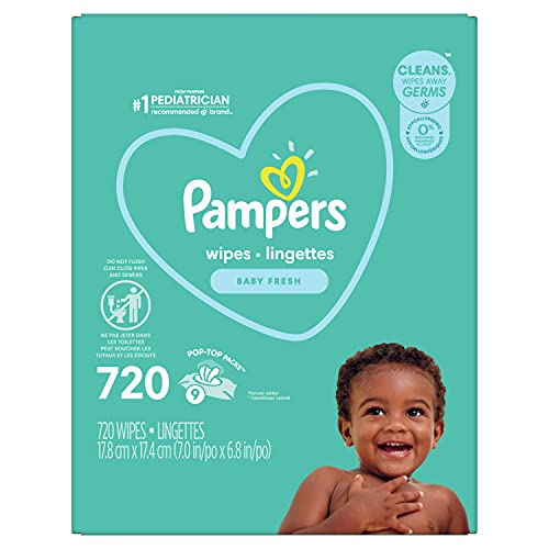 0037000754725 - PAMPERS BABY WIPES COMPLETE CLEAN BABY FRESH SCENT 9X 80 POP-TOP - 720 COUNT