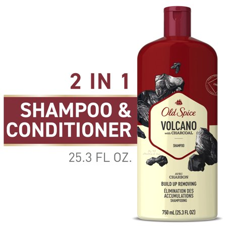 0037000795551 - OLD SPICE MEN'S SHAMPOO, VOLCANO WITH CHARCOAL, 25.3 FL OZ