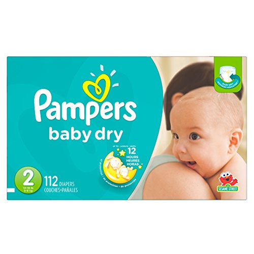 0037000862222 - PAMPERS DIAPERS, SIZE 2 (12 - 18 LB), SESAME STREET, 112 CT.