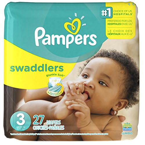 0037000863441 - PAMPERS SWADDLERS DIAPERS SIZE 3 JUMBO PACK