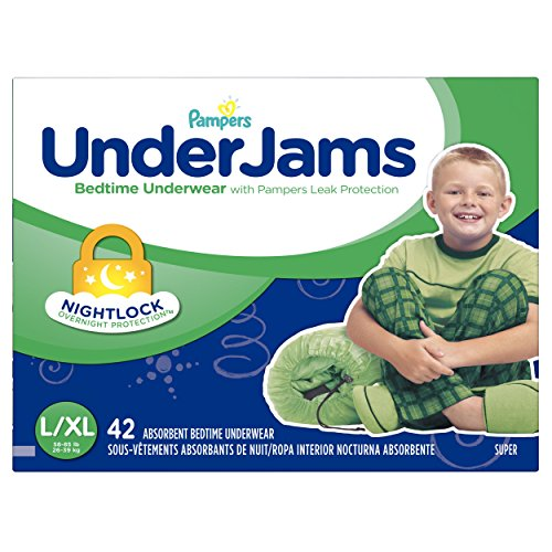 0037000929635 - PAMPERS UNDERJAMS BEDTIME UNDERWEAR FOR BOYS, SIZE 8 (58-85 LBS.) 42 CT.