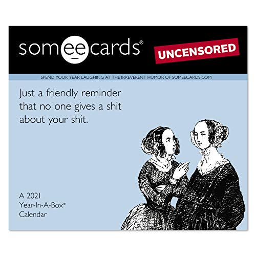 0038576278714 - 2021 SOMEECARDS UNCENSORED YEAR-IN-A-BOX CALENDAR (LMB2610021)