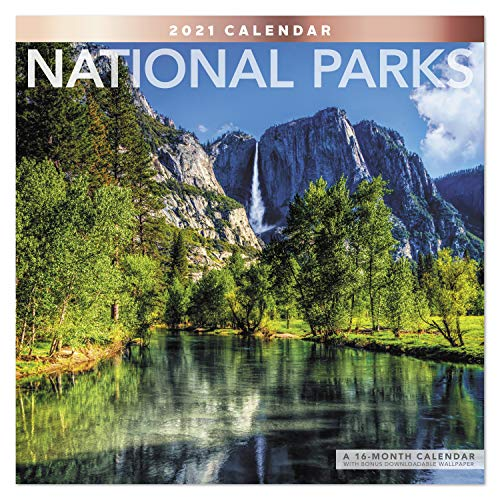"""0038576321717 - 2021 NATIONAL PARKS WALL CALENDAR, 12"""" X 12"""", MONTHLY (LME3081021)"""