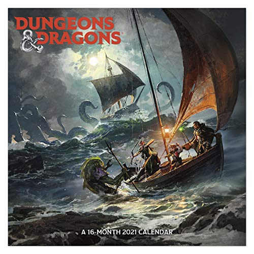 """0038576326217 - 2021 DUNGEONS AND DRAGONS WALL CALENDAR, 12"""" X 12"""", MONTHLY (DDW2162821)"""