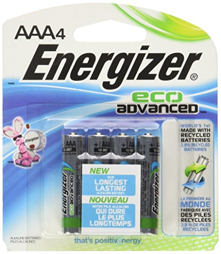 0039800123916 - ENERGIZER - ECOADVANCED AAA BATTERIES (4-PACK) - MULTI