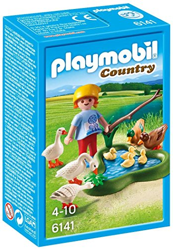 4008789061416 - PLAYMOBIL 6141 - BOY WITH DUCKS AND GEESE ON THE POND