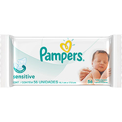 4015400584537 - RECHARGE 56 LINGETTES SENSITIVE PAMPERS