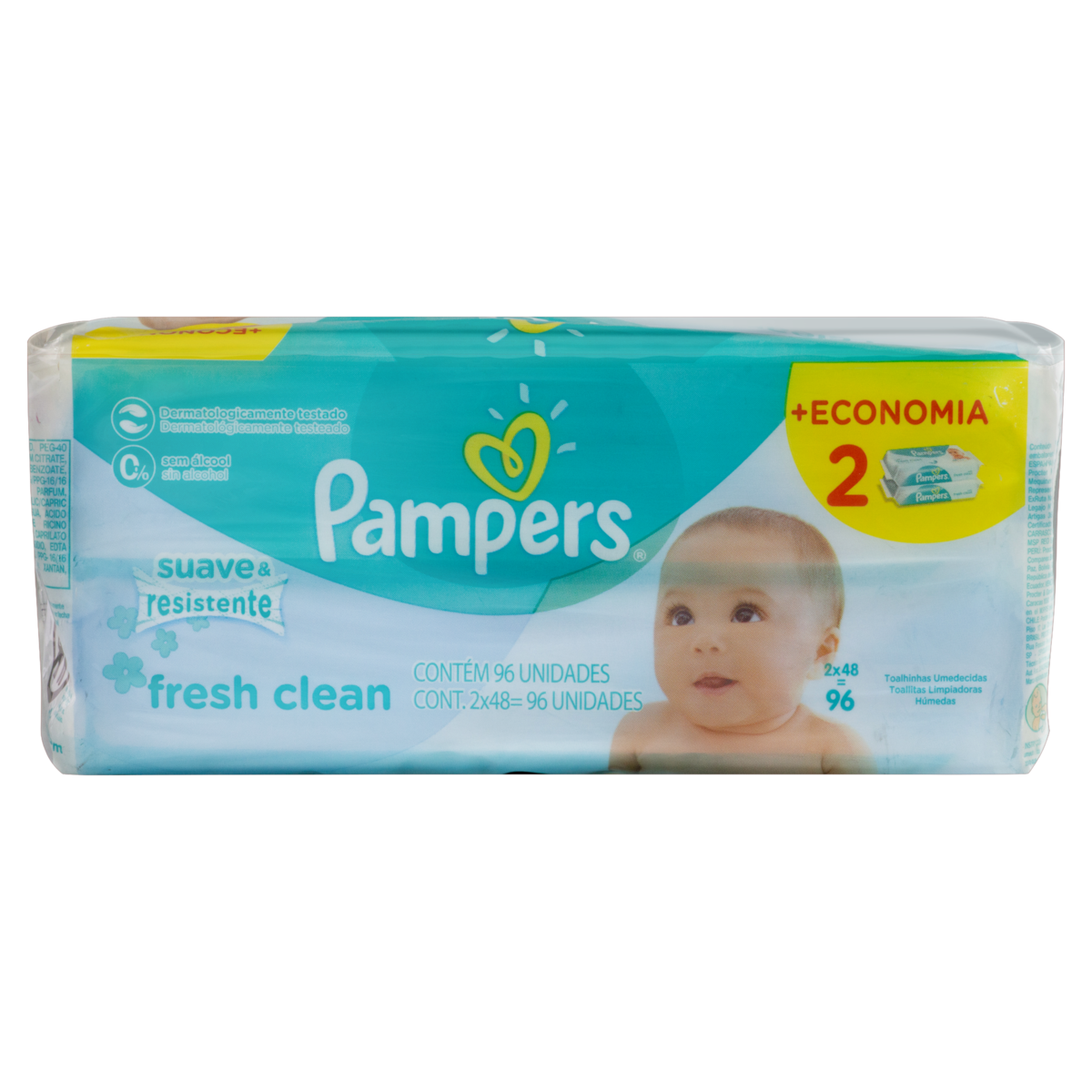 4015400763727 - LENÇO UMEDECIDO SACHE PAMPERS C/96 REGULAR UNIT