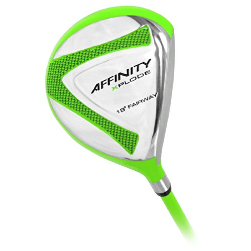 0040169093420 - AFFINITY GOLF XPLODE 5 FAIRWAY WOOD, GREEN, RIGHT HAND, GRAPHITE, UNIFLEX, 19-DEGREE