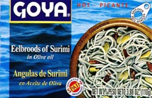 0041331036221 - GOYA EELBROODS OF SURIMI, 3.88-OUNCE UNIT (PACK OF 5)