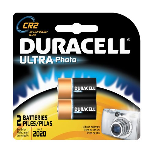 0041333013107 - DURACELL ULTRA BATTERIES, CR2 LITHIUM PHOTO, 3V, 2 CT.