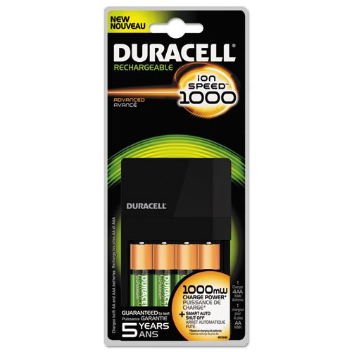0041333150352 - DURACELL VALUE CHARGER WITH 4 AA STAYCHARGED BATTERIES 1 KIT (CEF14)