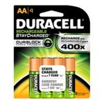 0041333160351 - DURACELL | DURACELL RECHARGEABLES STAYCHARGED AA BATTERIES, 4-COUNT