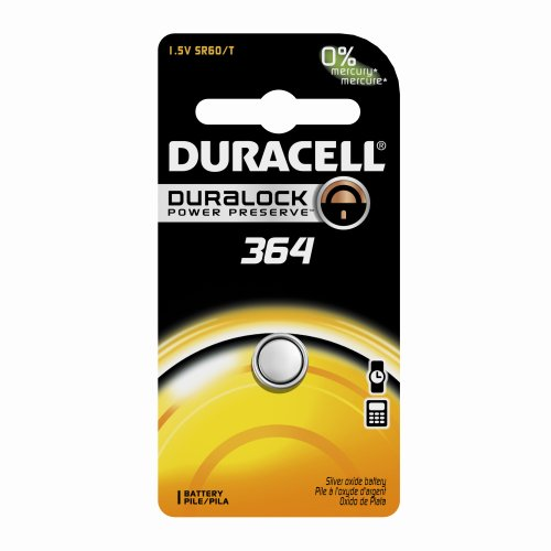 0041333164090 - DURACELL D364BPK WATCH / ELECTRONIC BATTERY, 1.5 VOLT SILVER OXIDE
