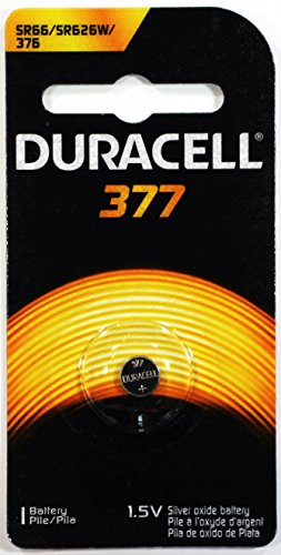 0041333177090 - DURACELL WATCH AND ELECTRONIC BATTERY 1.5 V MODEL NO. 377 CARDED
