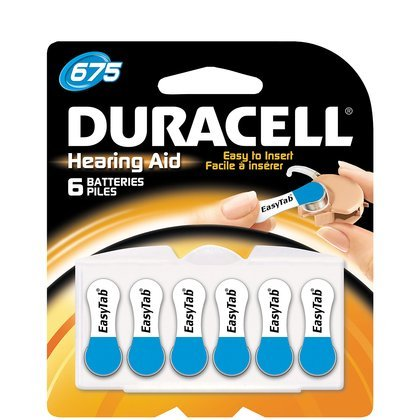0041333630878 - DURACELL EASYTAB HEARING AID 675 BATTERY (24 BATTERIES)