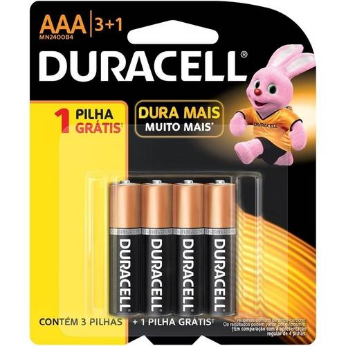 0041333665832 - PILHAS ALCALINAS AAA 51G DURACELL