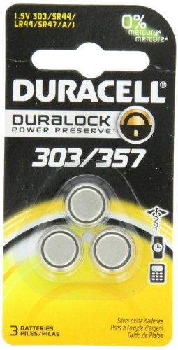 0041333674483 - DURACELL D303/357 SILVER OXIDE 3 COUNT, (PACK OF 3)