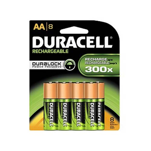 0041333747873 - DURACELL RECHARGEABLE AA NIMH BATTERIES, MIGNON/HR6/DC1500, 2450MAH, 8-COUNT PACKAGE