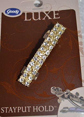 0041457018170 - GOODY LUXE BARRETTE STAYPUT HOLD (CUBIC ZIRCONIA)