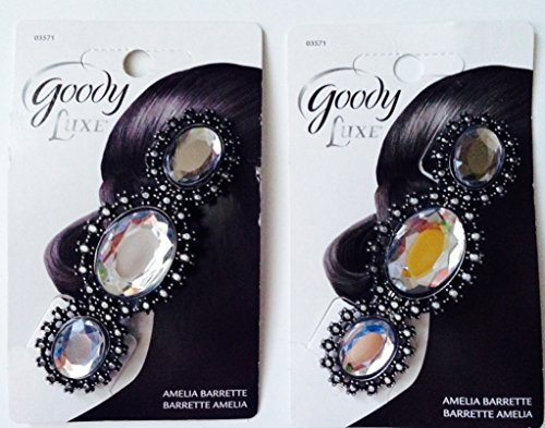 0041457035719 - PACK OF 2- GOODY LUXE AMELIA BARRETTE