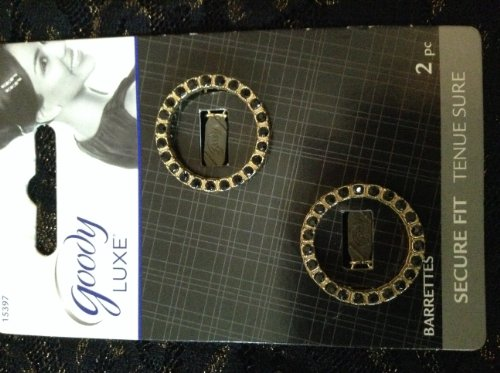 0041457153970 - GOODY LUXE SECURE FIT PACK OF 2 CIRCLE BARRETTES
