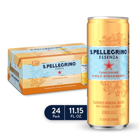 0041508803021 - S.PELLEGRINO ESSENZA TANGERINE & WILD STRAWBERRY FLAVORED MINERAL WATER, 11.15 FL OZ. CANS (24 COUNT)