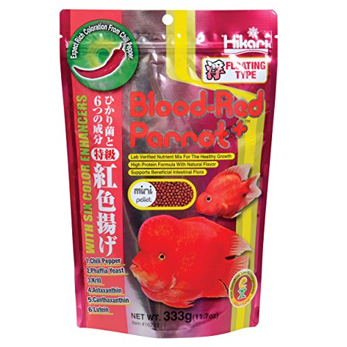 0042055162333 - HIKARI 330340 BLOOD, RED PARROT+, MINI PELLETS, 333G