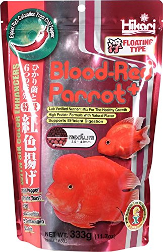 0042055163330 - HIKARI 330342 BLOOD, RED PARROT+, MEDIUM PELLETS, 333G