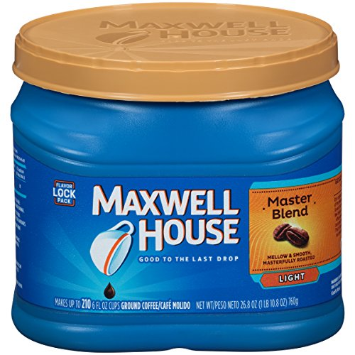 0043000070321 - MAXWELL HOUSE MASTER BLEND LIGHT ROAST GROUND COFFEE (26.8 OZ CANISTER)