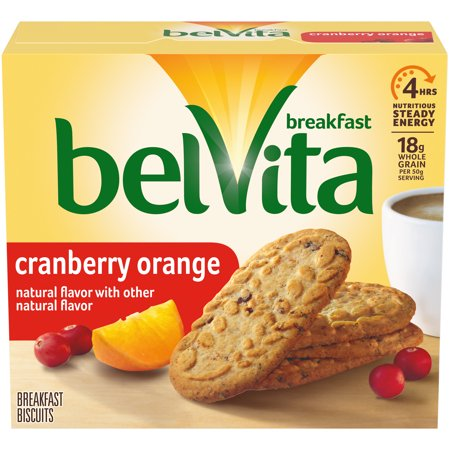 0044000040598 - BELVITA CRANBERRY ORANGE BISCUIT, 8.8 OUNCE